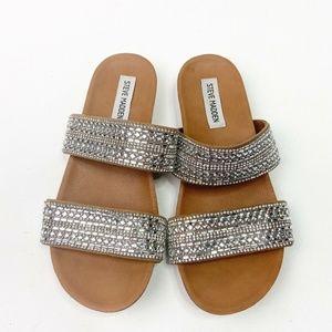 Steve Madden Dynamo Sparkle Slip On Sandals 6.5